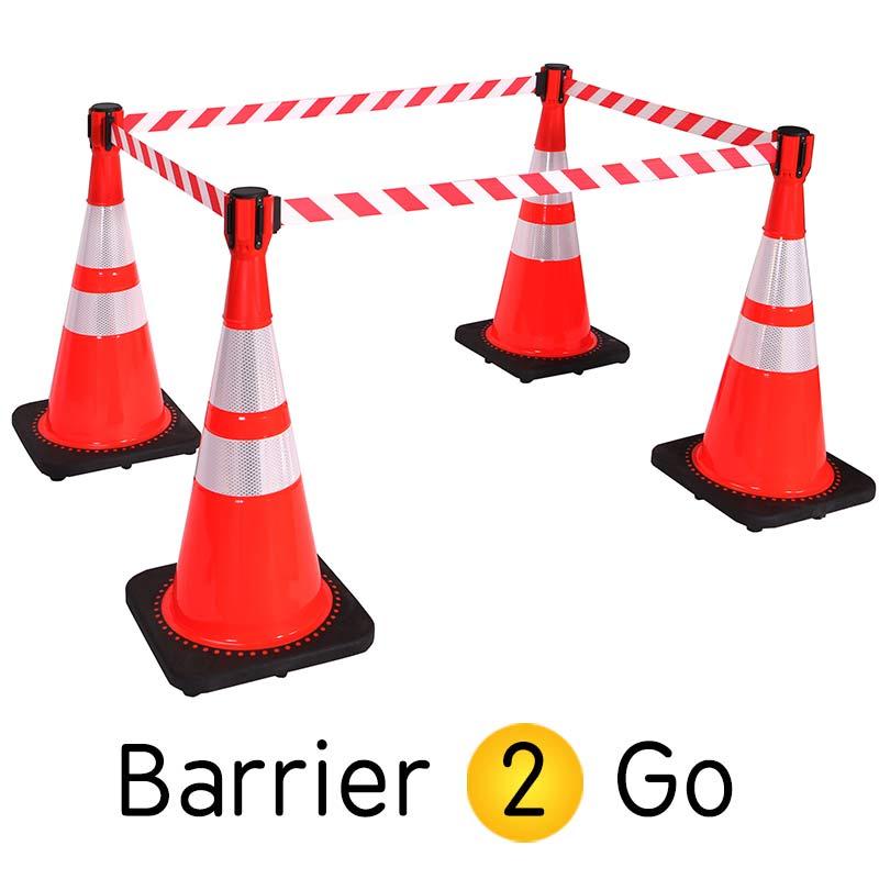 Cone Mount Retractable Belt Barrier 3m Amp 3 65m Barrier 2 Go
