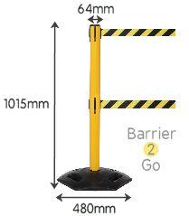heavy-duty-twin-retractable-belt-barrier-stand-specs
