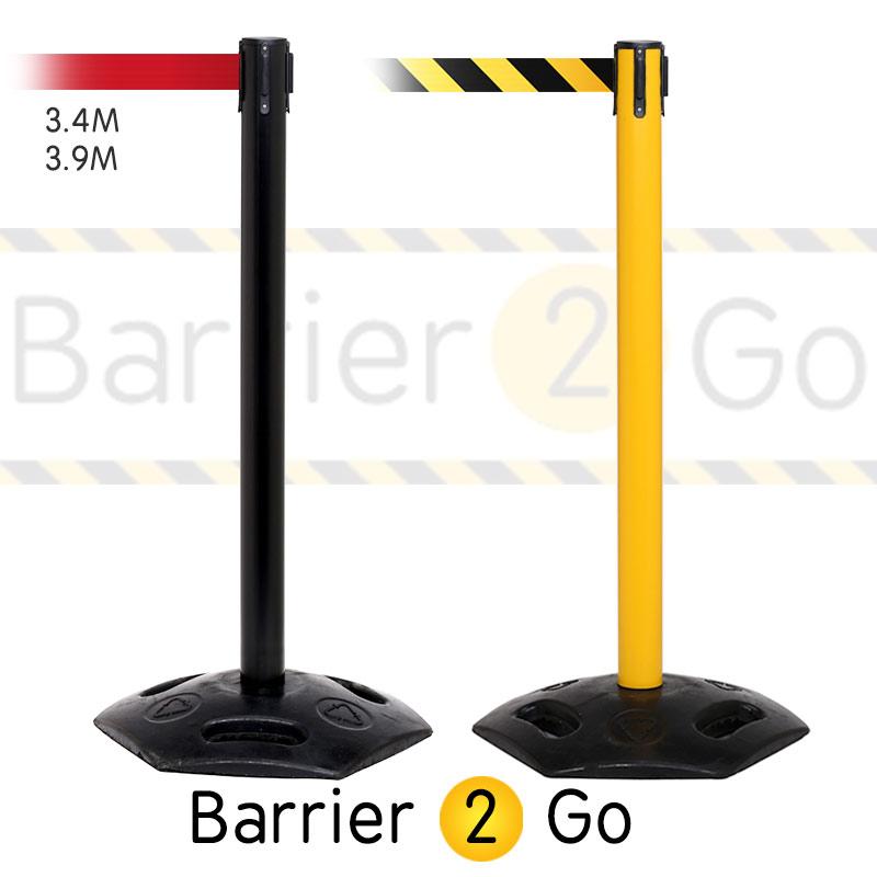 heavy duty steel retractable belt barrier stand 3 4m 4. Black Bedroom Furniture Sets. Home Design Ideas