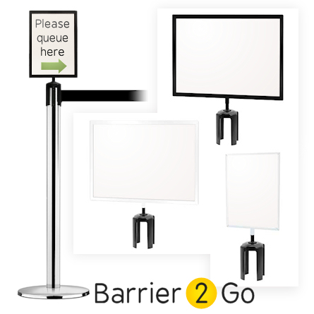 Retractable Barrier Sign Frames | Barrier 2 Go