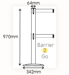 double belt retail retractable barrier specs