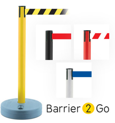 outdoor retractable barrier at barrier2go