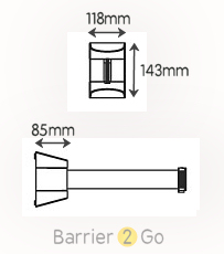 xtra large wall mounted retractable barrier specs